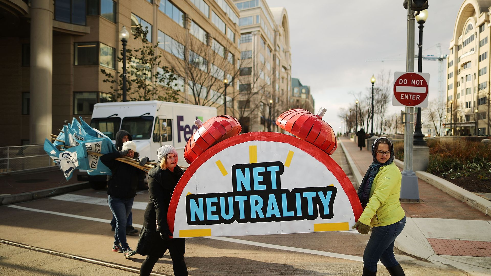 Net neutrality protesters