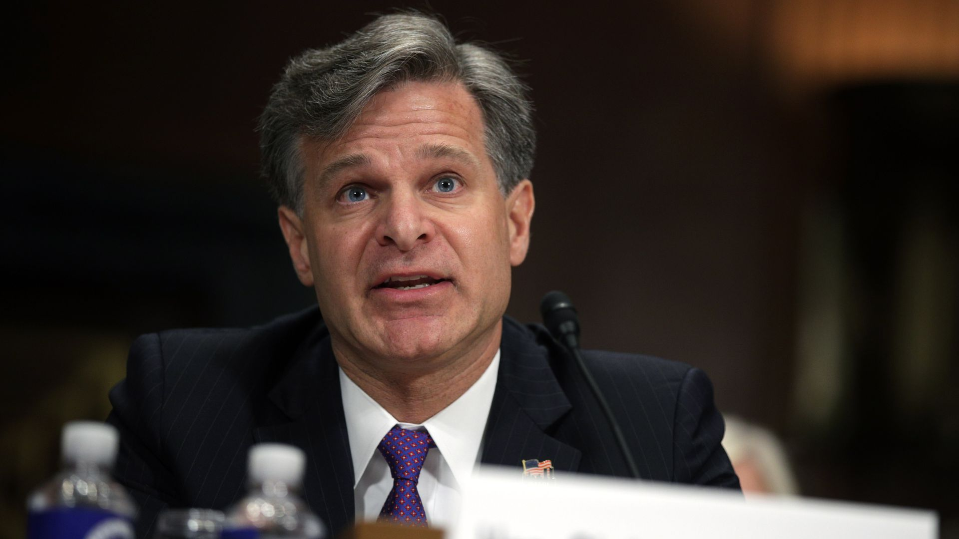Christopher Wray testifying