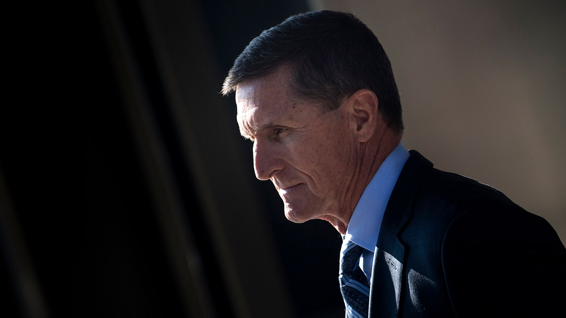 Michael Flynn in a suit