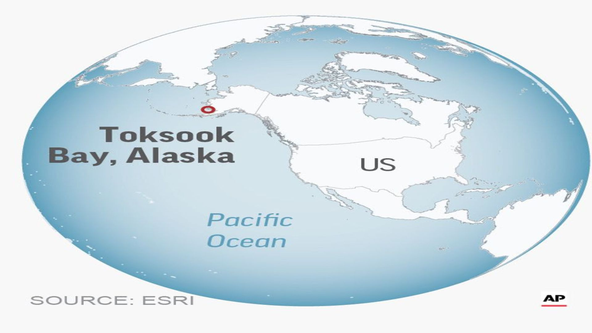 A map showing tooksook bay