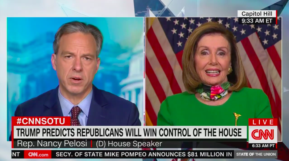 """Pelosi says Trump is """"delusional"""" for thinking GOP will win the House"""