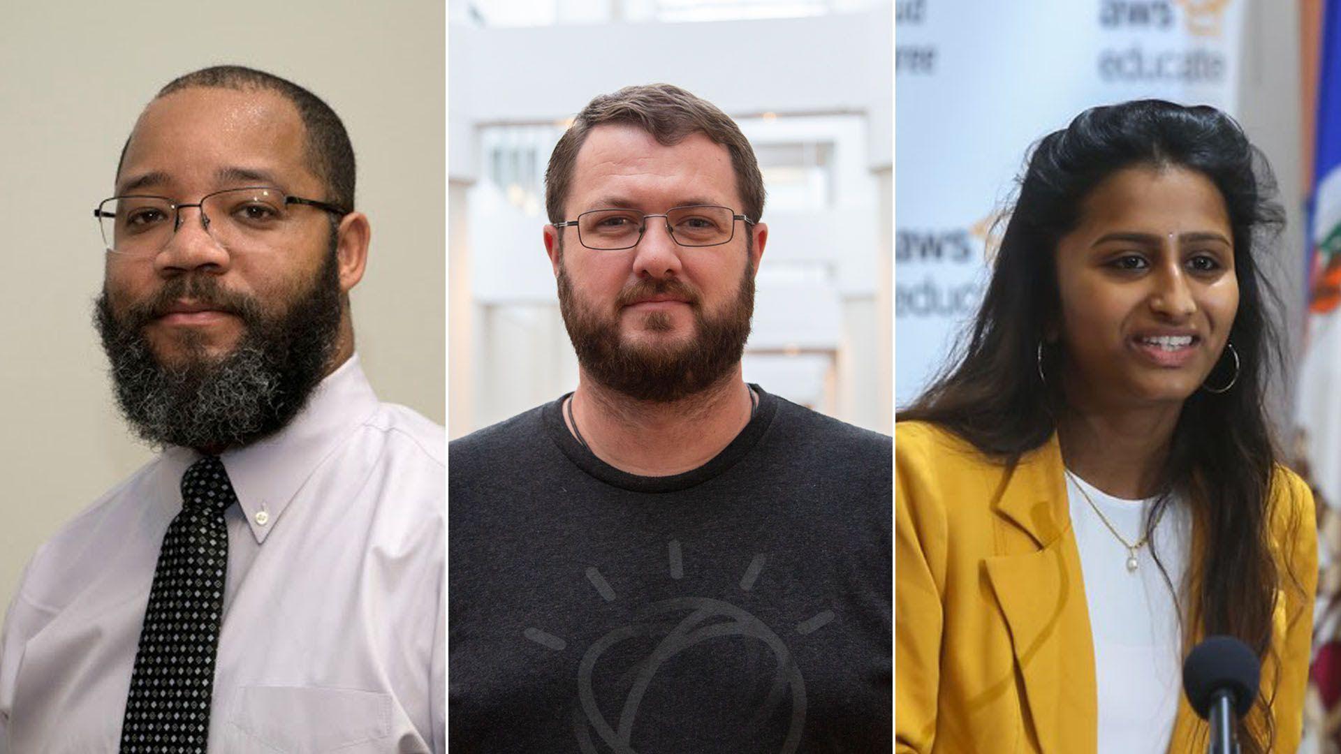 From left: Reggie Harden; Ryan Reed; Dolica Gopisetty (Photos: Accenture, IBM, AWS)