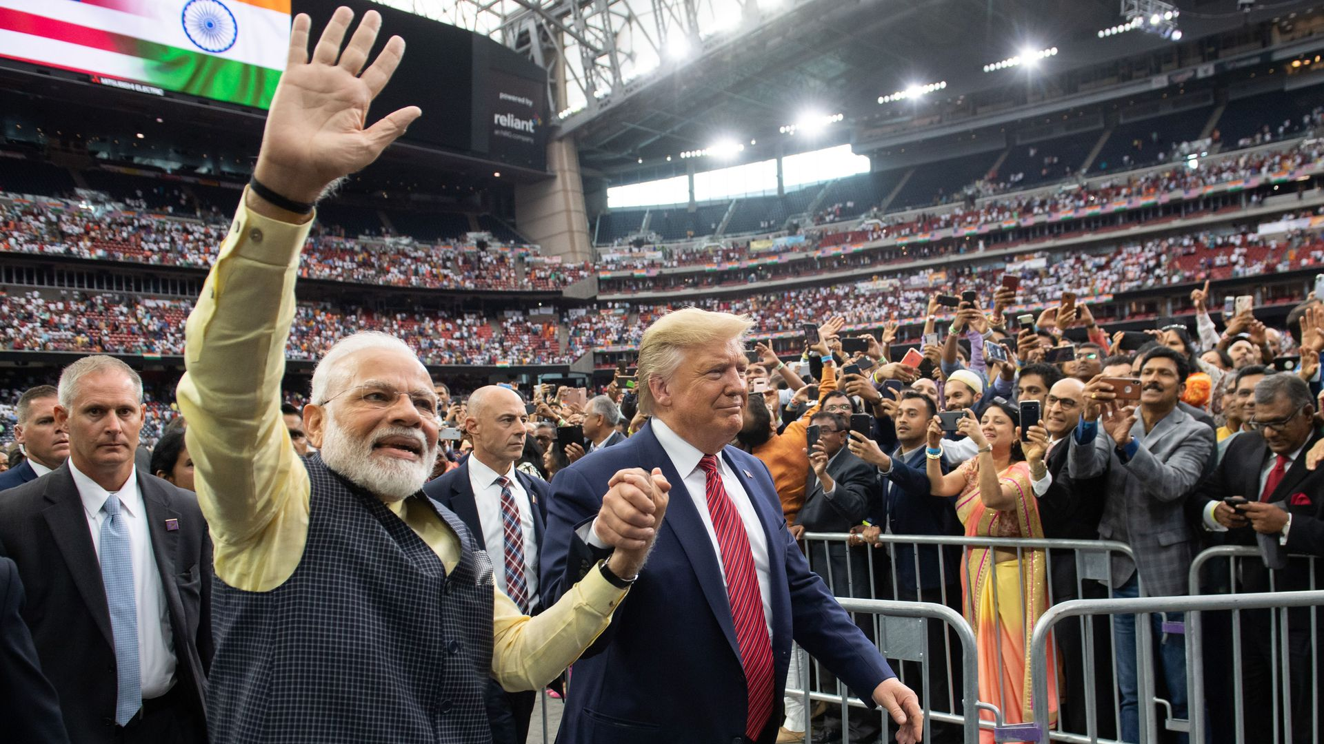 """In photos: Trump addresses 50,000 at Texas """"Howdy Modi"""" rally for visiting Indian PM"""