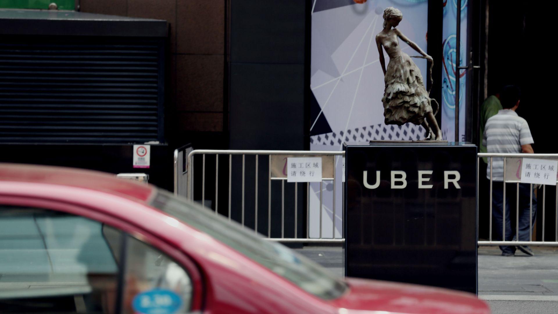 An Uber station