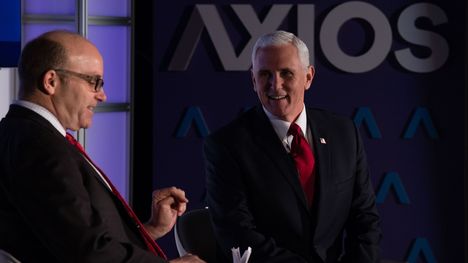 Vice President Mike Pence with Axios' Mike Allen.