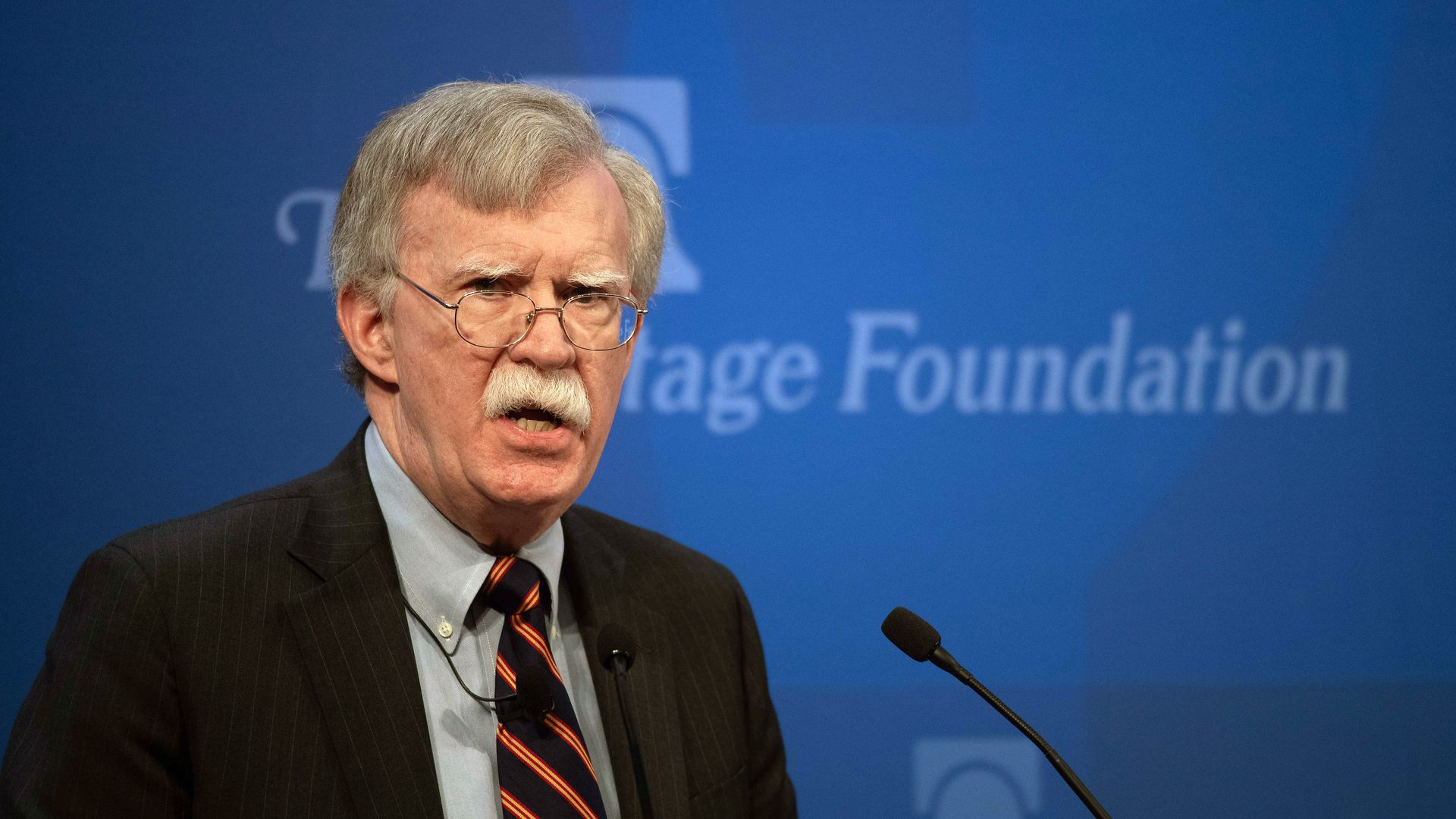 US National Security Advisor John Bolton speaks about the administration's African policy at the Heritage Foundation in Washington, DC