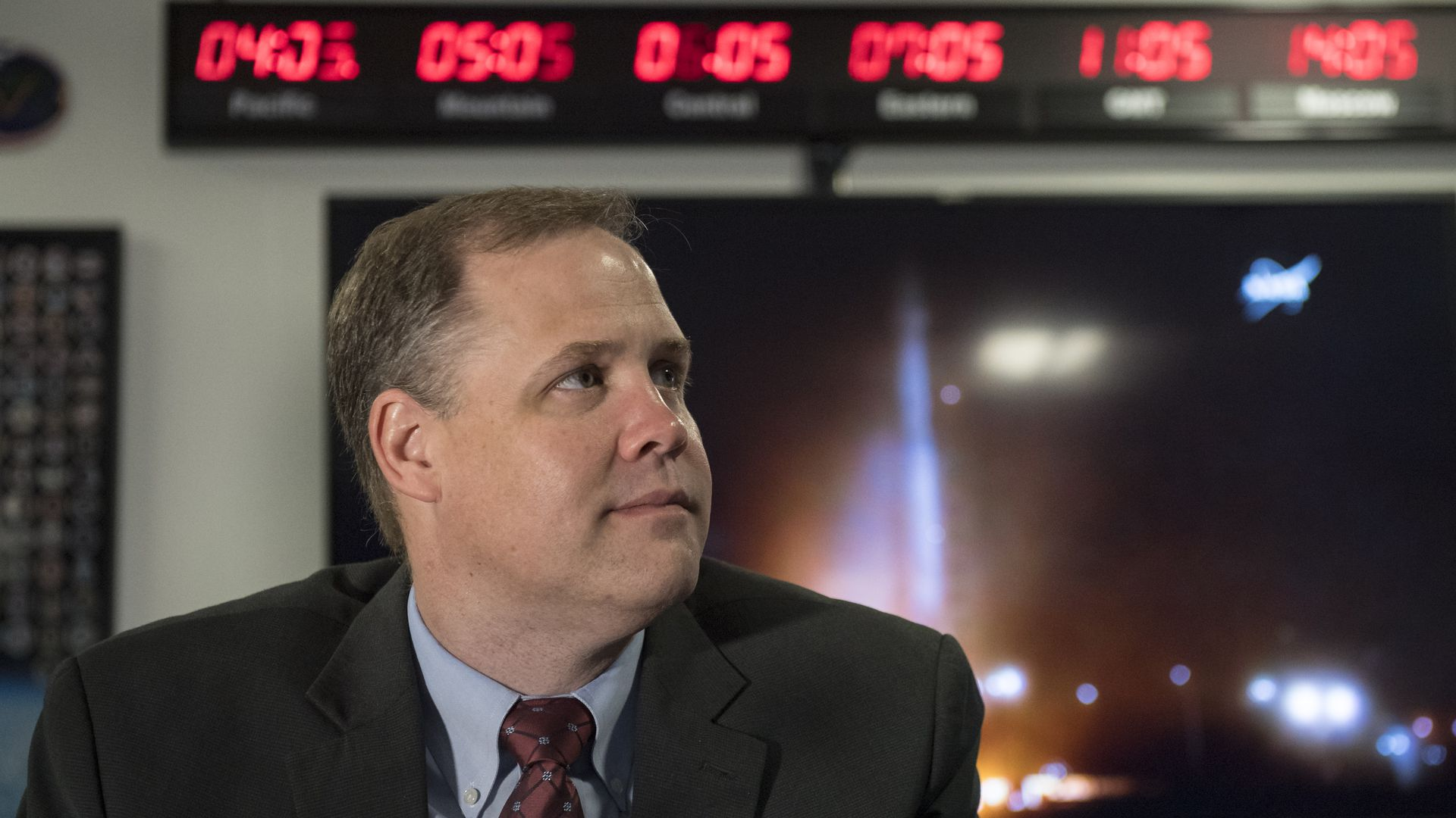 NASA administrator Jim Bridenstine seen before a rocket launch on May 5, 2018.