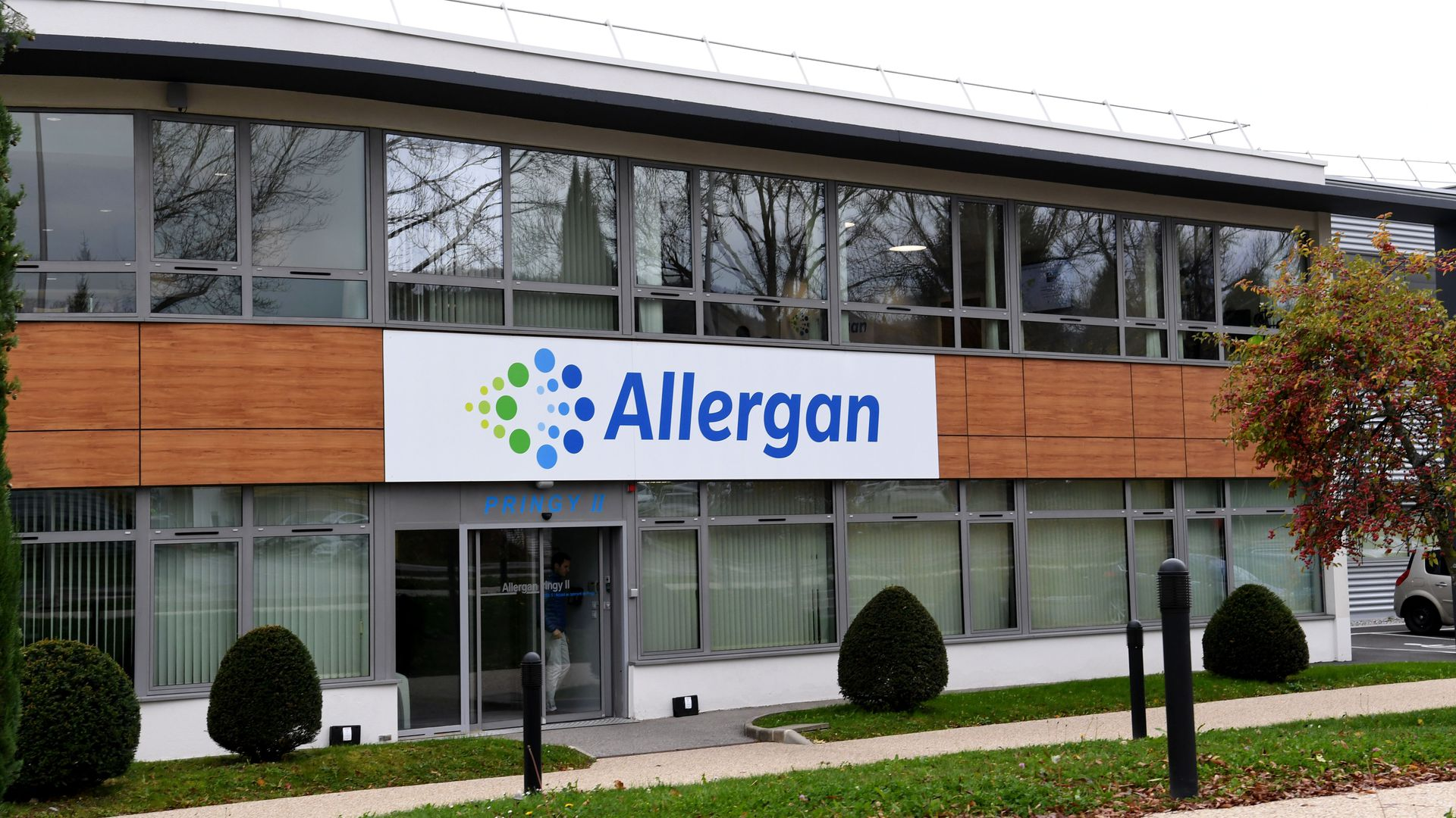 An Allergan building in France.