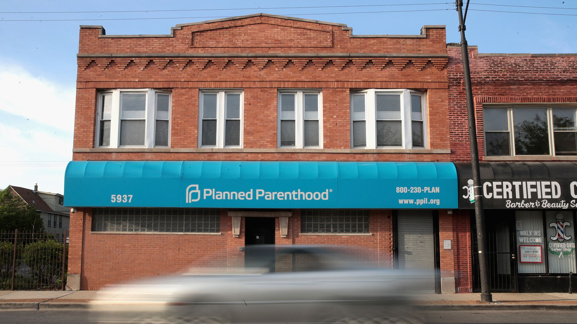 Front of Planned Parenthood clinic