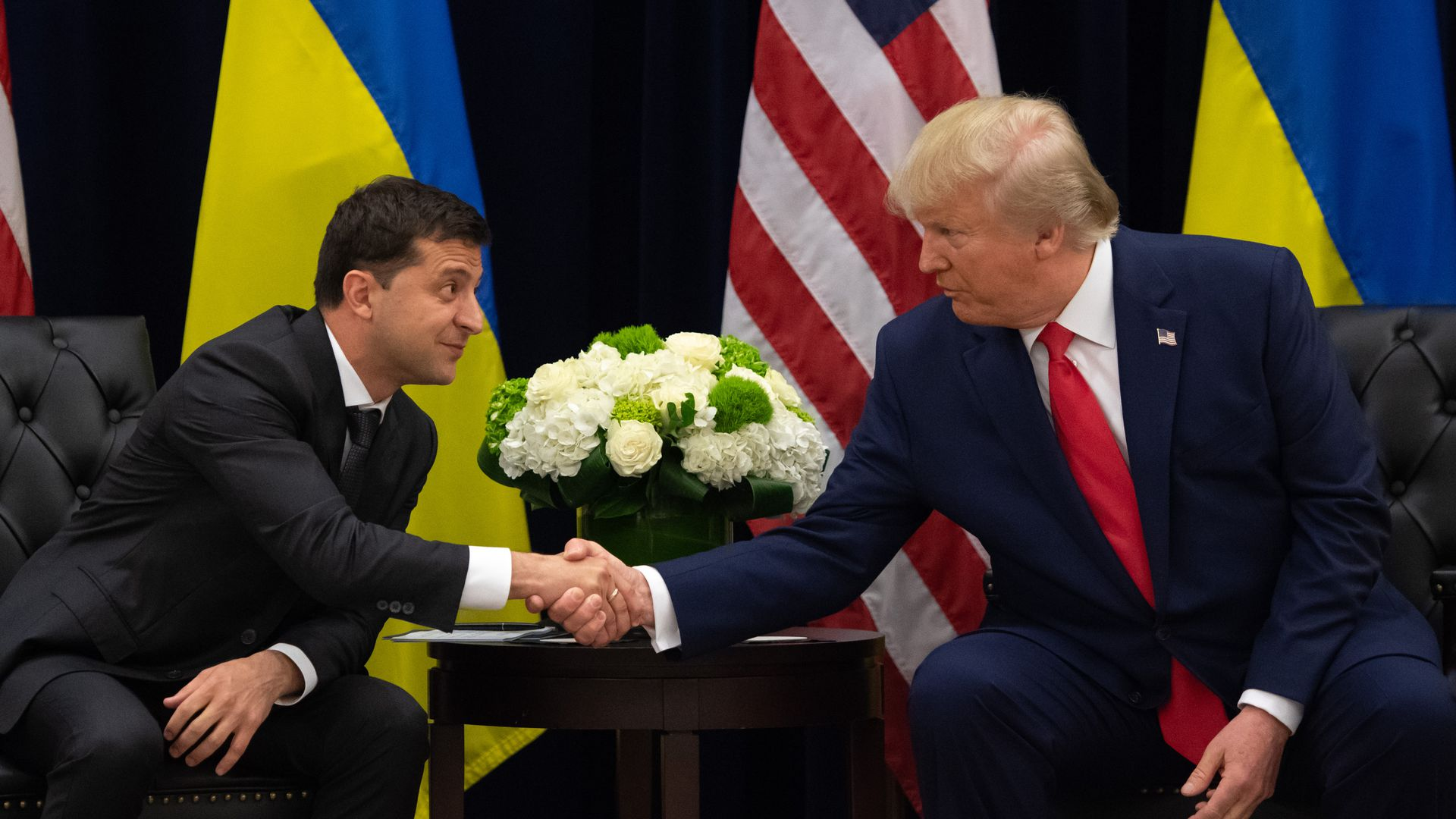 Trump and Zelensky