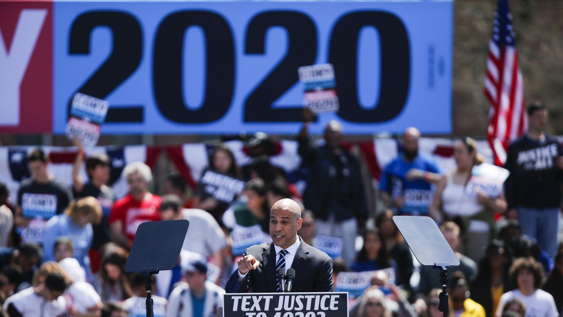 Cory Booker launches his 2020 campaign in Newark.