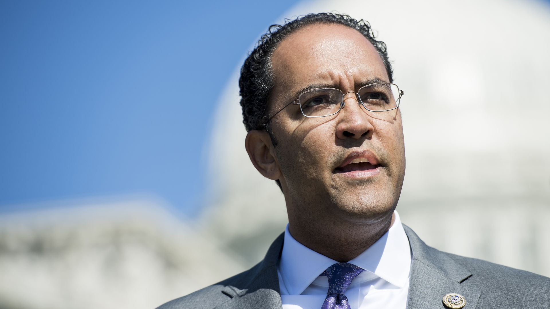 Rep. Will Hurd speaks in front of the Capitol