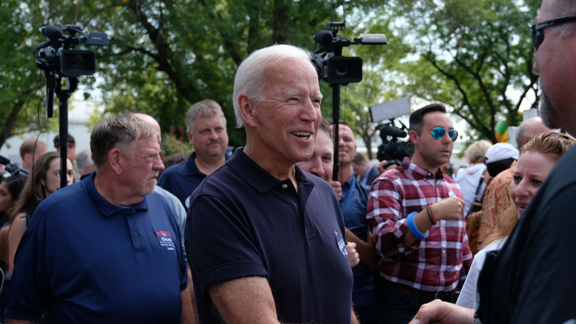 Former Vice President and 2020 hopeful Joe Biden campaigning in Iowa