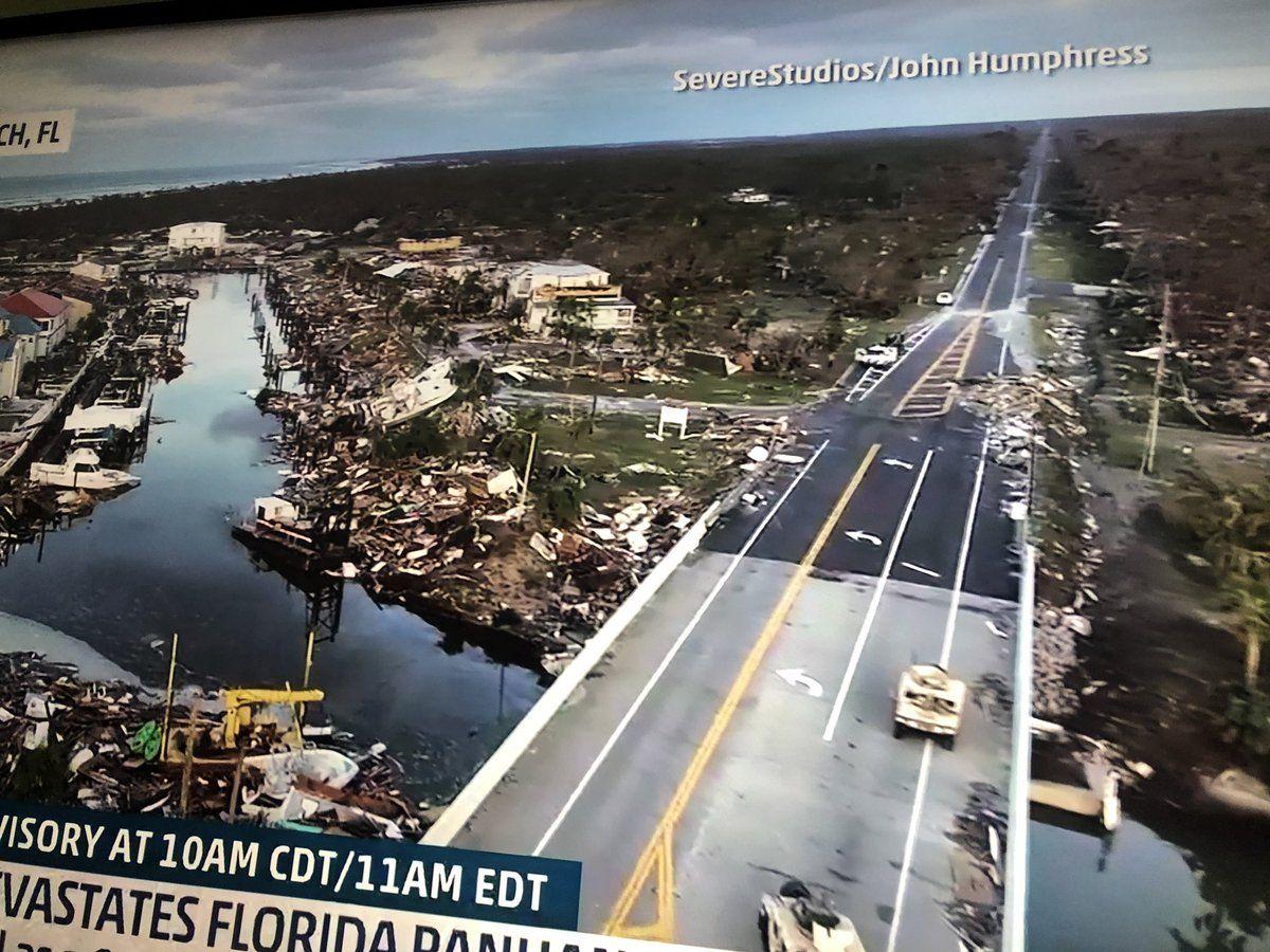Devastation in Mexico Beach, Florida