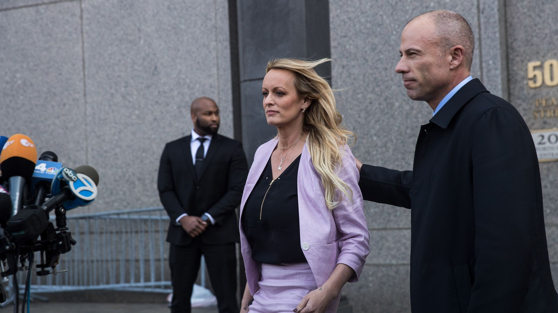Adult film actress Stormy Daniels (Stephanie Clifford) and her attorney Michael Avenatti