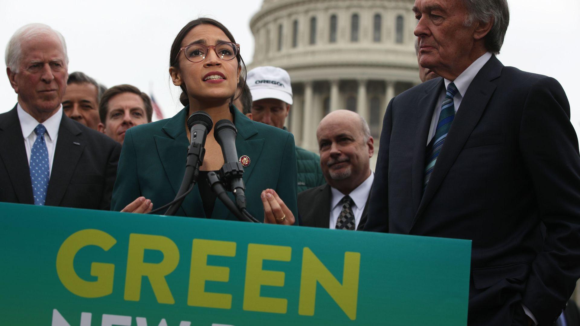 Rep. Alexandria Ocasio-Cortez and Sen. Ed Markey unveiled the Green New Deal