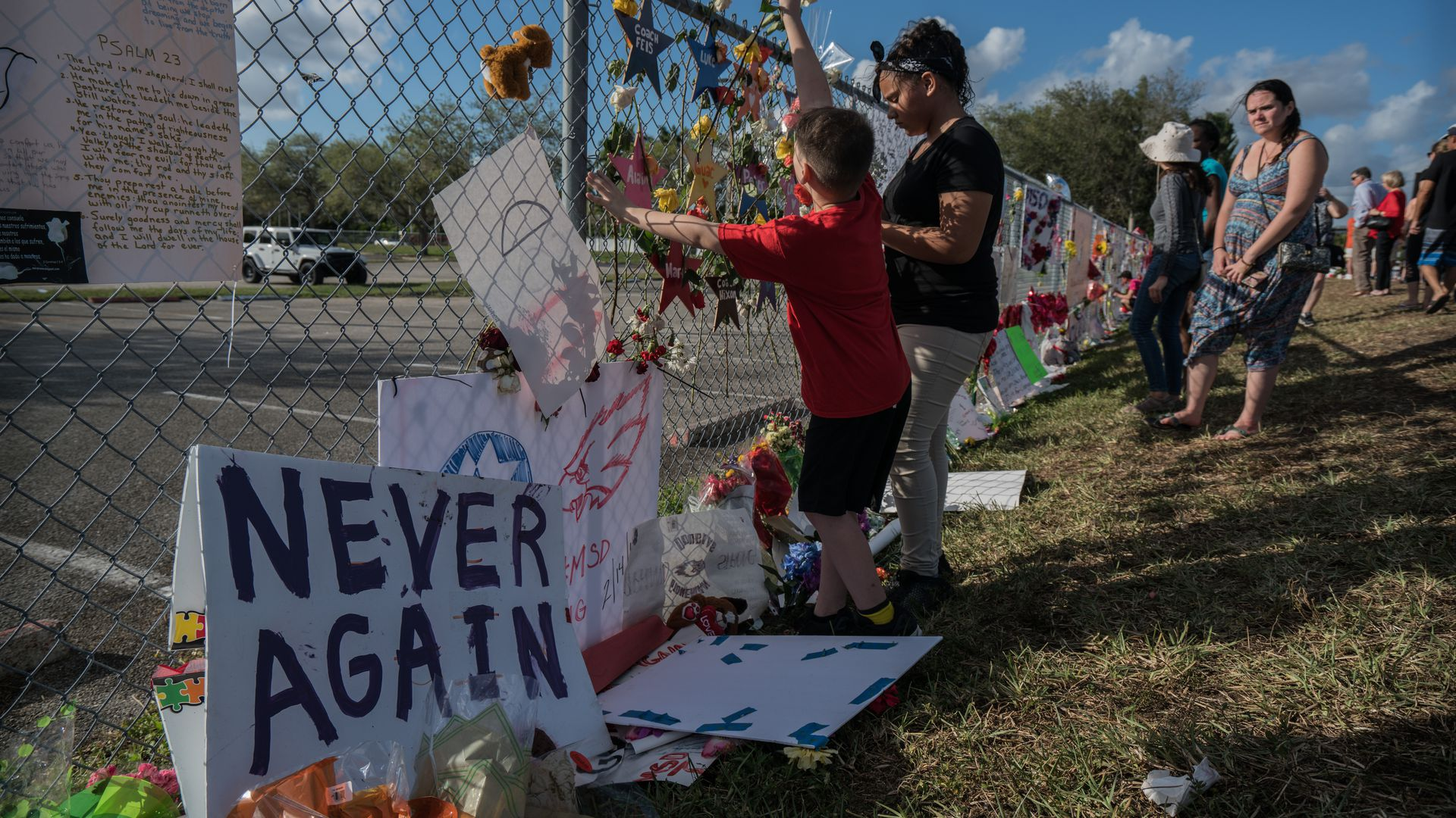 Memorials at Stoneman Douglas High School