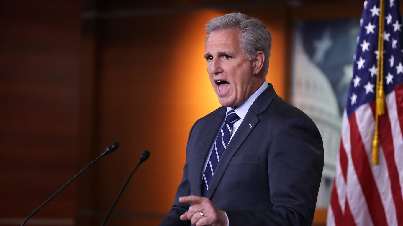 Kevin McCarthy caught on hot mic bad-mouthing Liz Cheney thumbnail