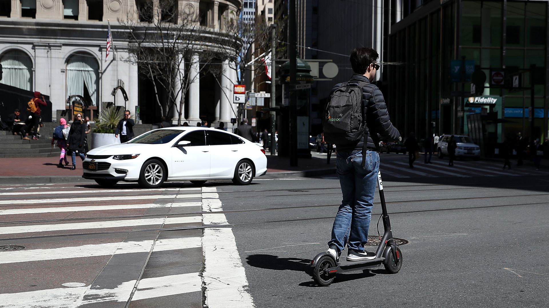 Razor Electric Scooter >> Uber and Lyft outline their scooter-share plans for San ...
