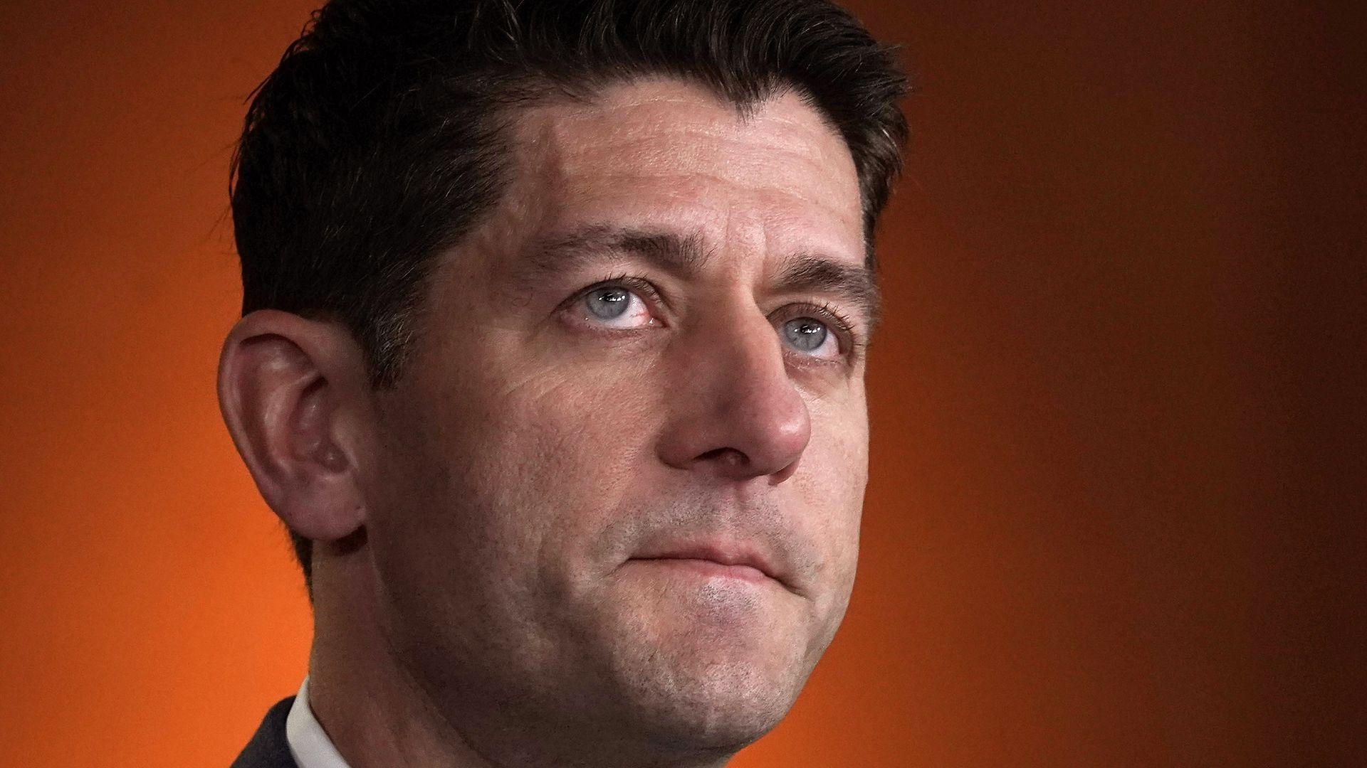 Paul Ryan looking up