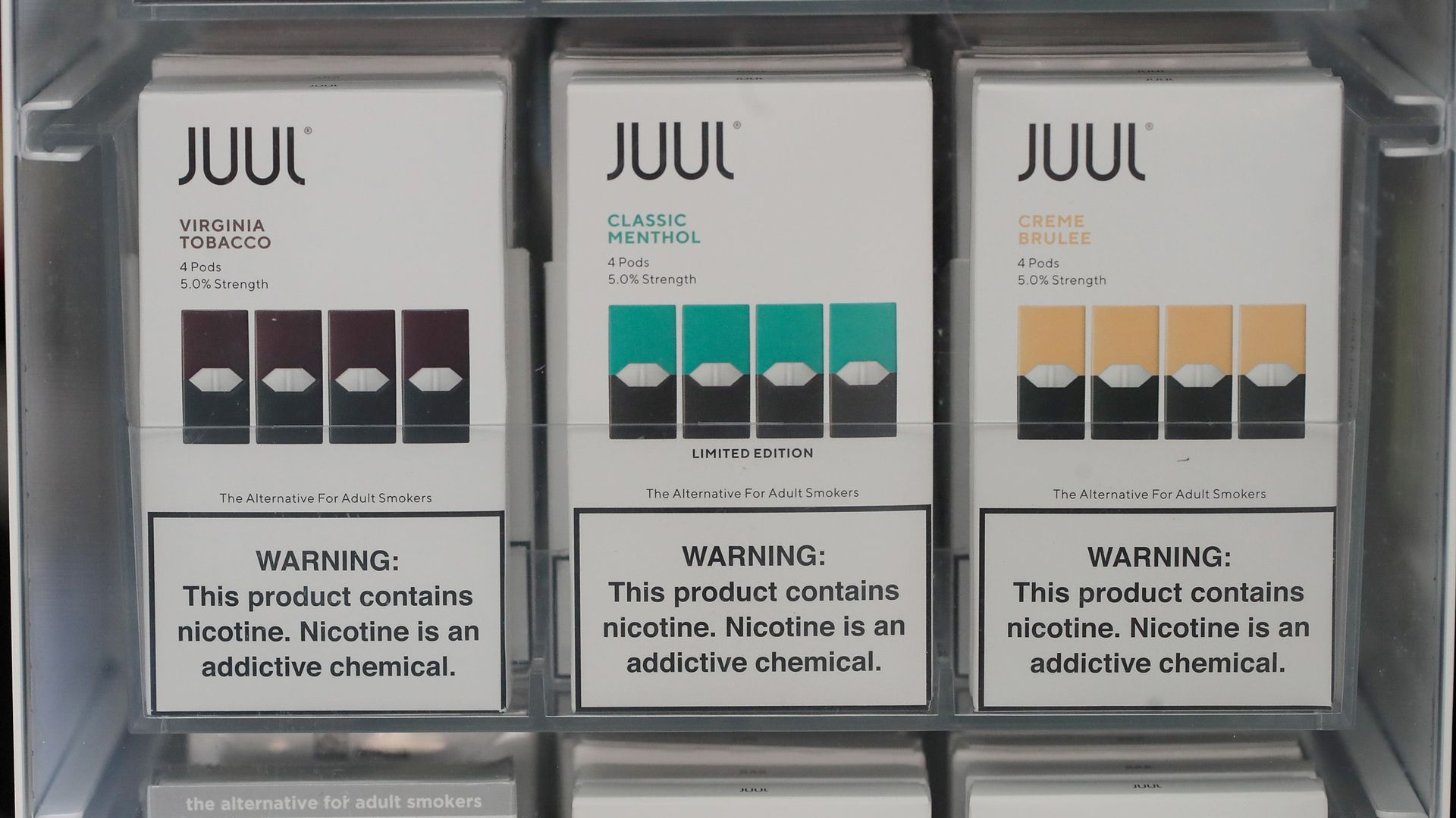 Electronic cigarettes and pods by Juul, the nation's largest maker of vaping products, The Food and Drug Administration (FDA) has ordered e-cigarette product makers to devise a plan to keep their