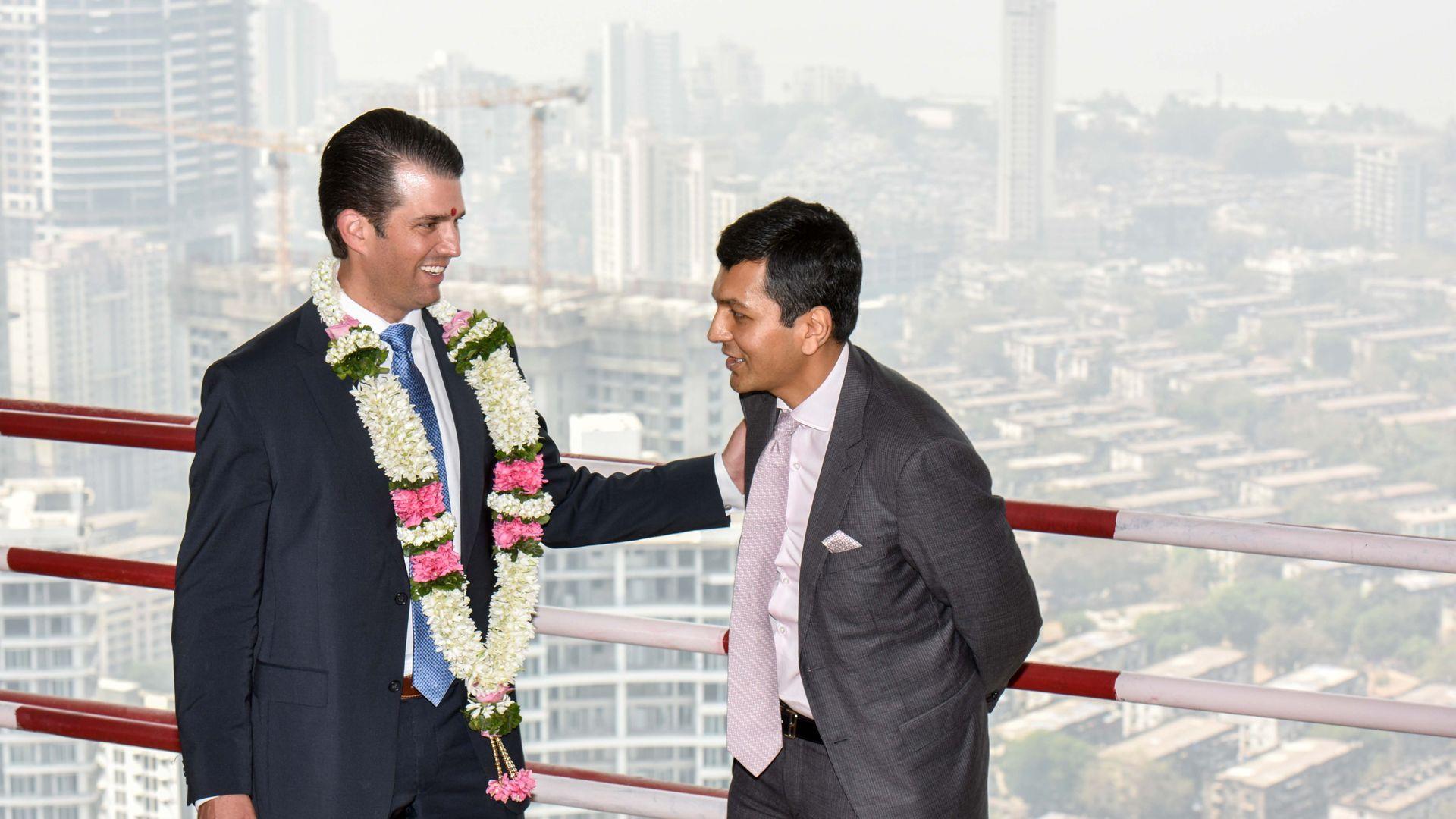 Trump Jr. and indian businessman