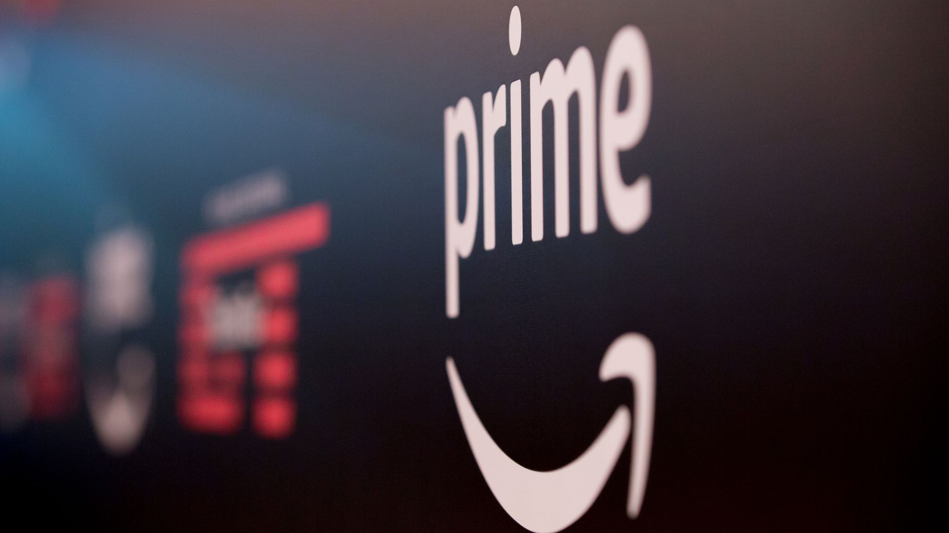 Amazon Prime logo on a building