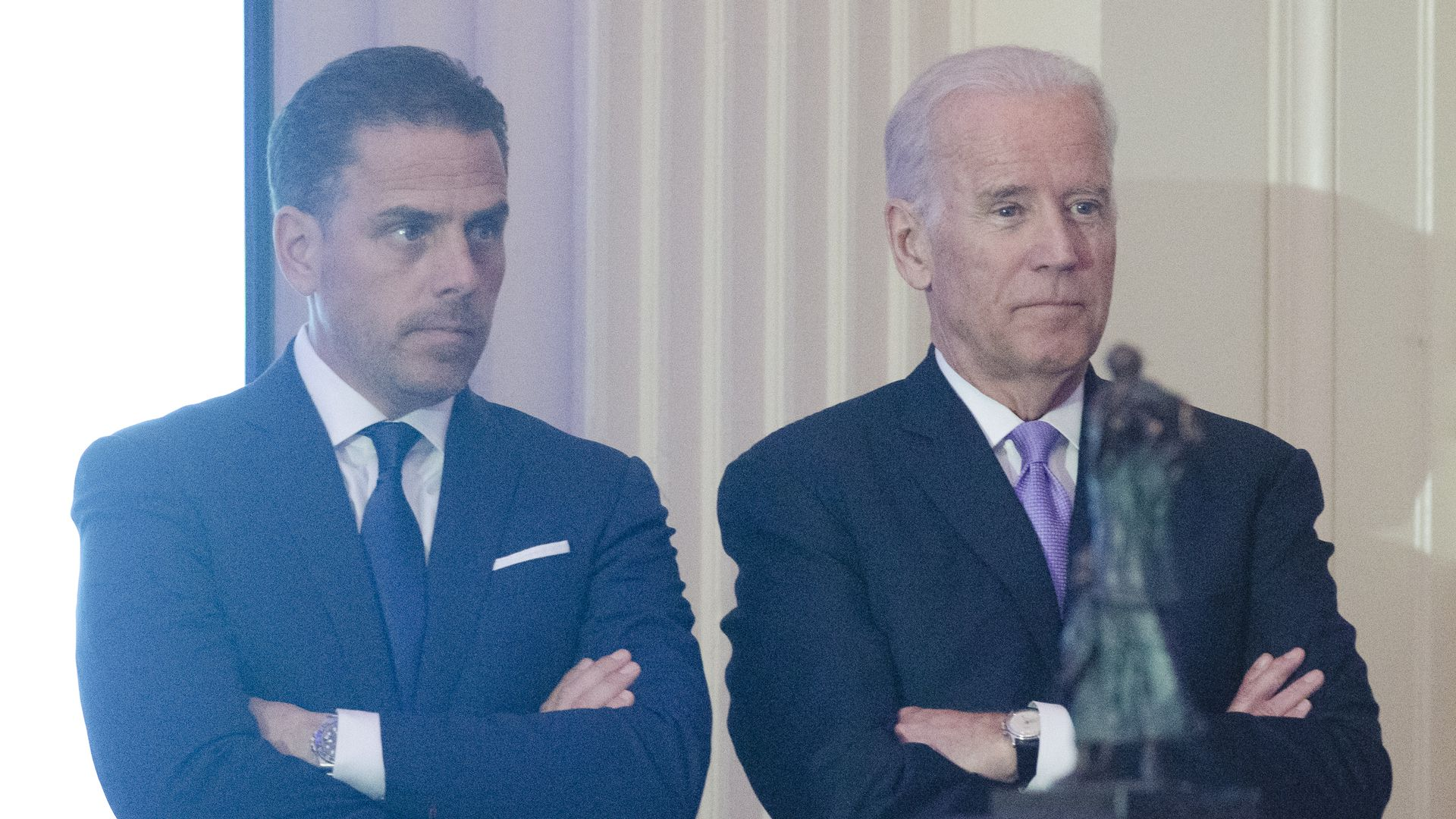 Former Vice President Joe Biden and his son Hunter Biden