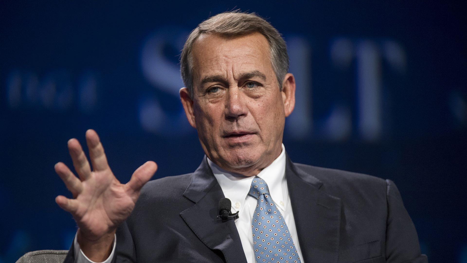 """John Boehner unloads on Republican """"crazy caucus"""" in new book excerpt -  Axios"""