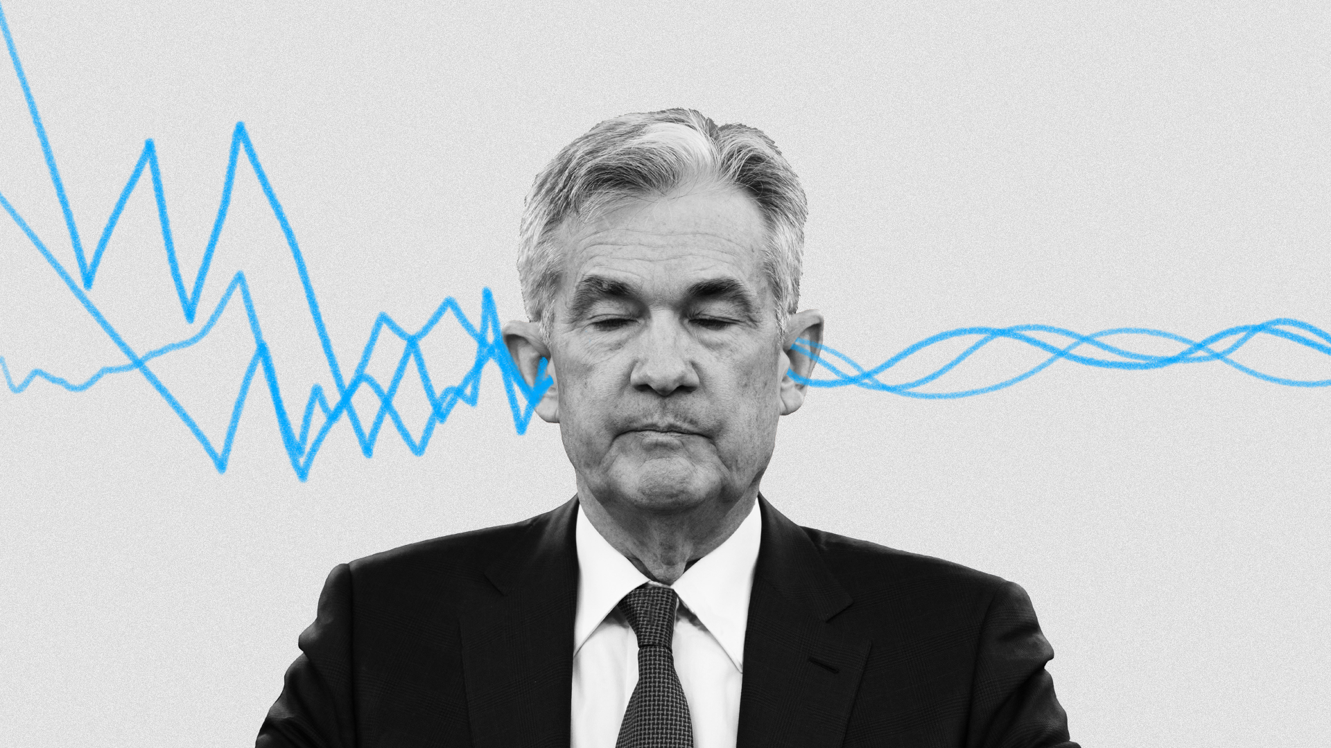 Audio going in one ear of Fed chair Jerome Powell and out the other