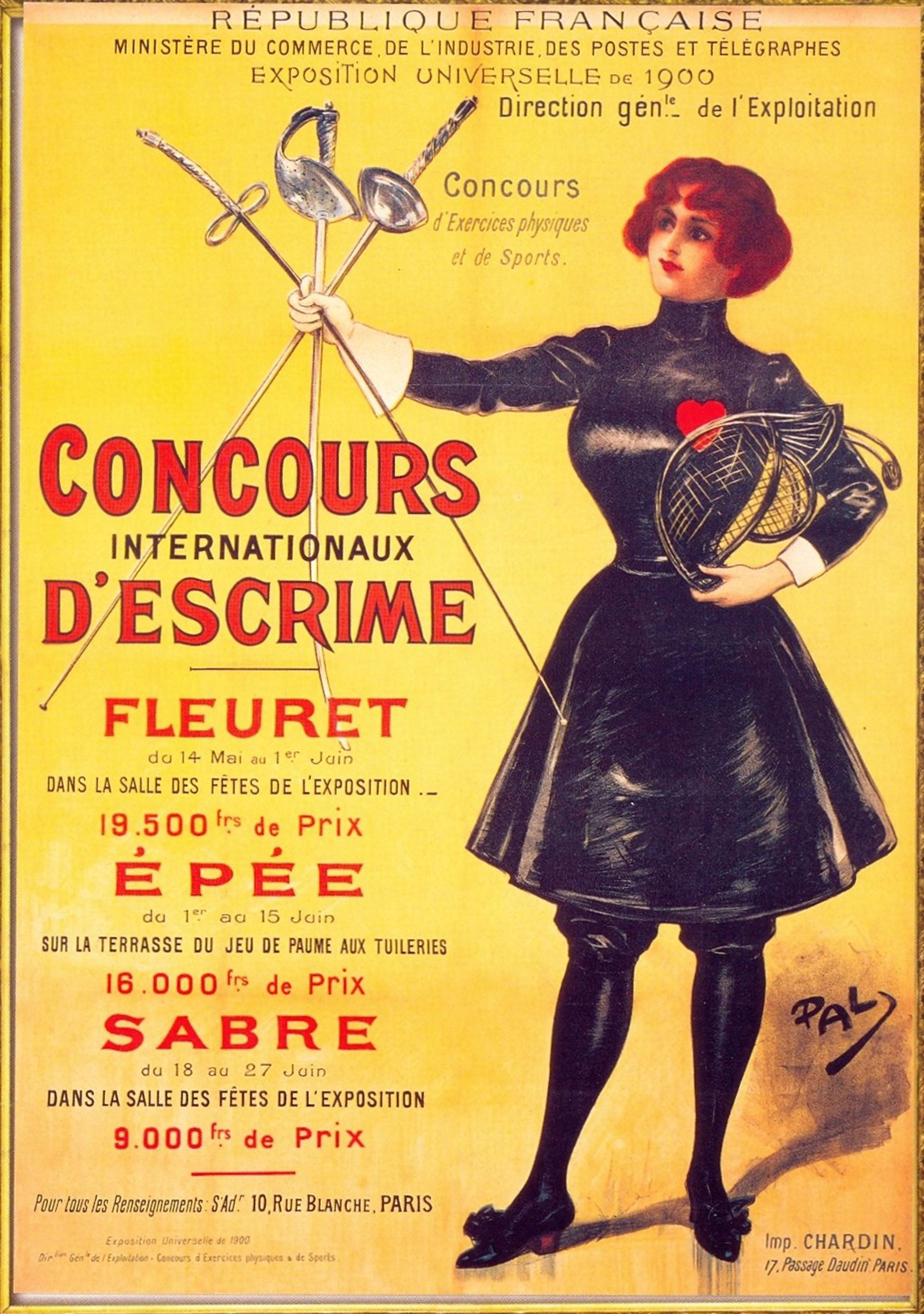 1900 Olympics poster