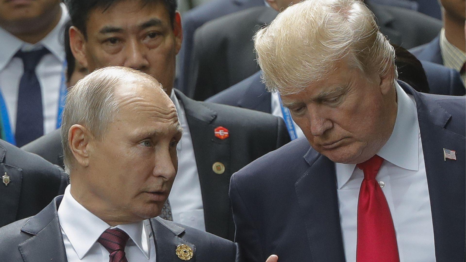 Trump and Vladmir Putin