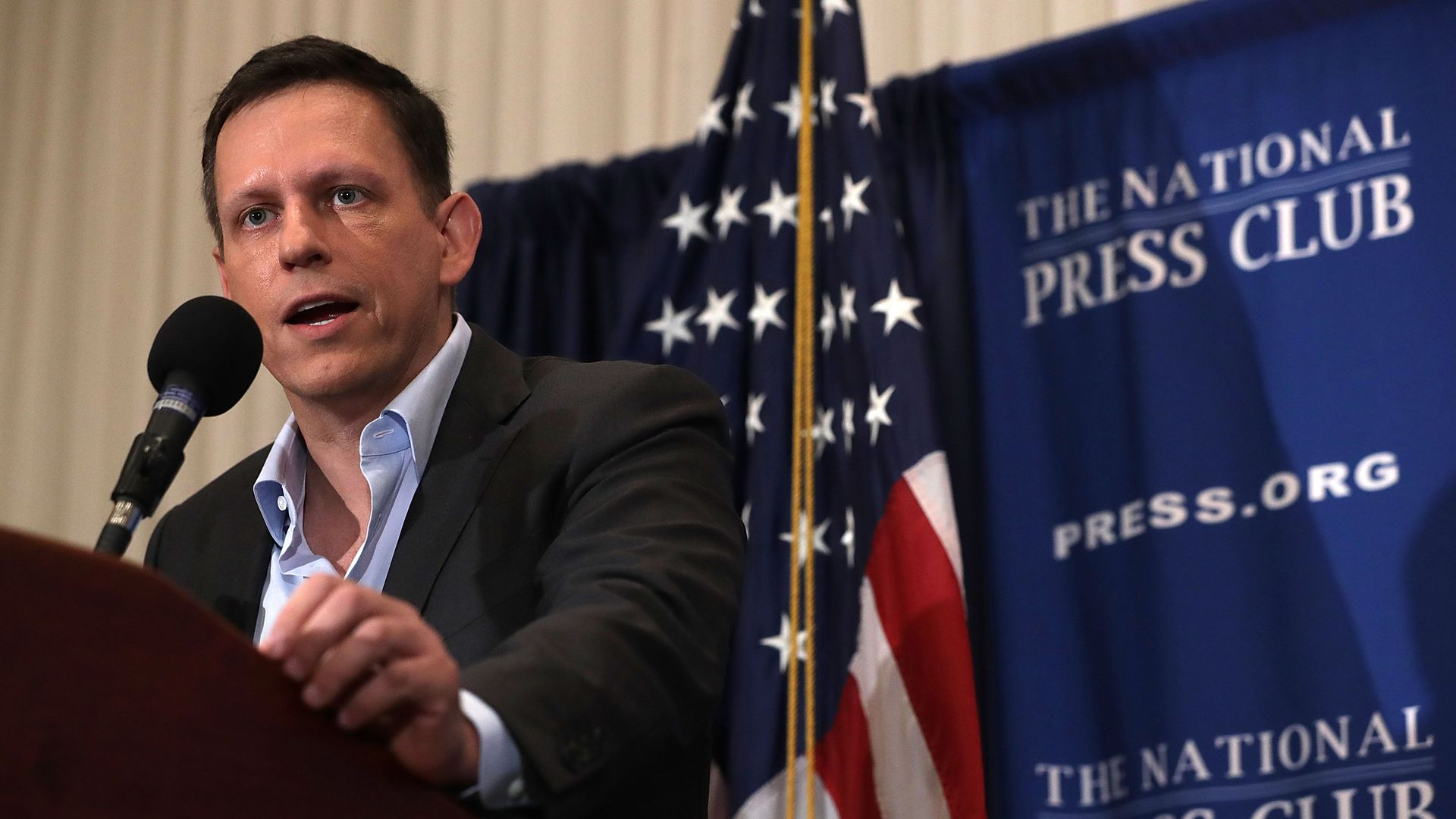 Peter Thiel speaking.