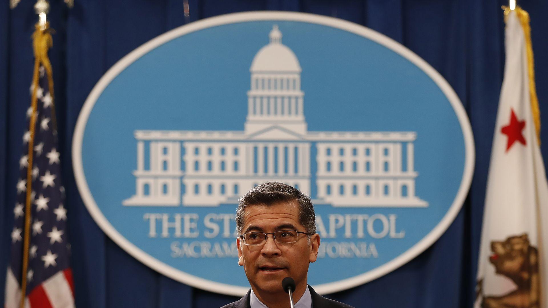 California State's Attorney Xavier Becerra