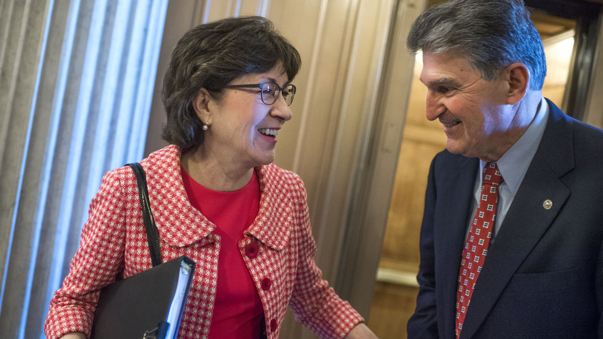 Senators Susan Collins and Joe Manchin