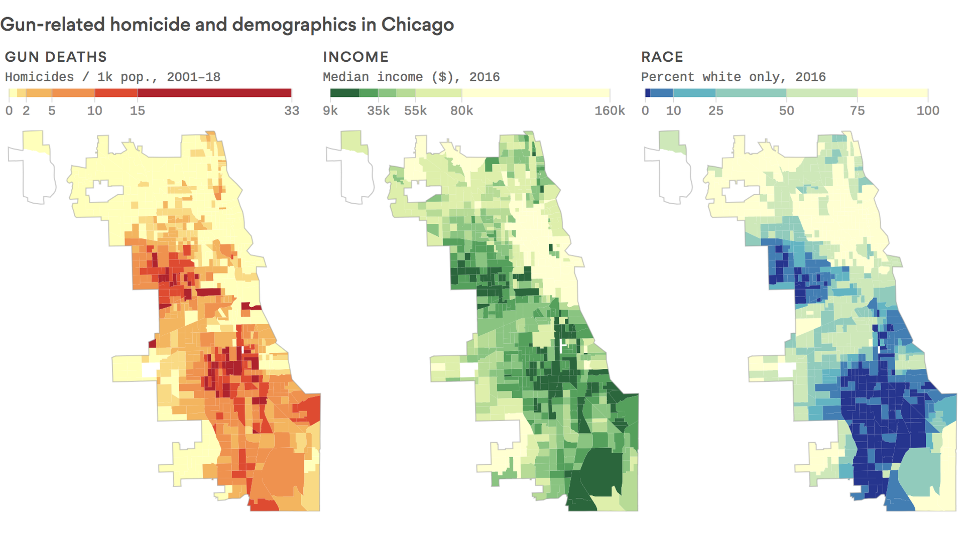 Chicago Violence Map The deadliest city: Why Chicago's gun violence is getting worse