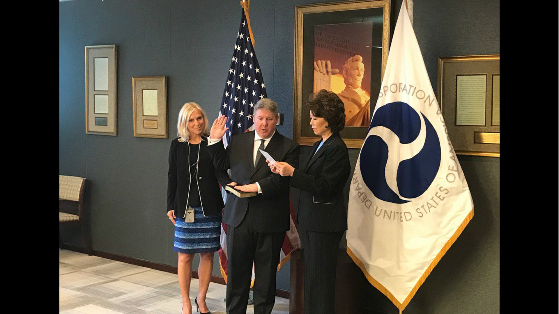 Hall's swearing in