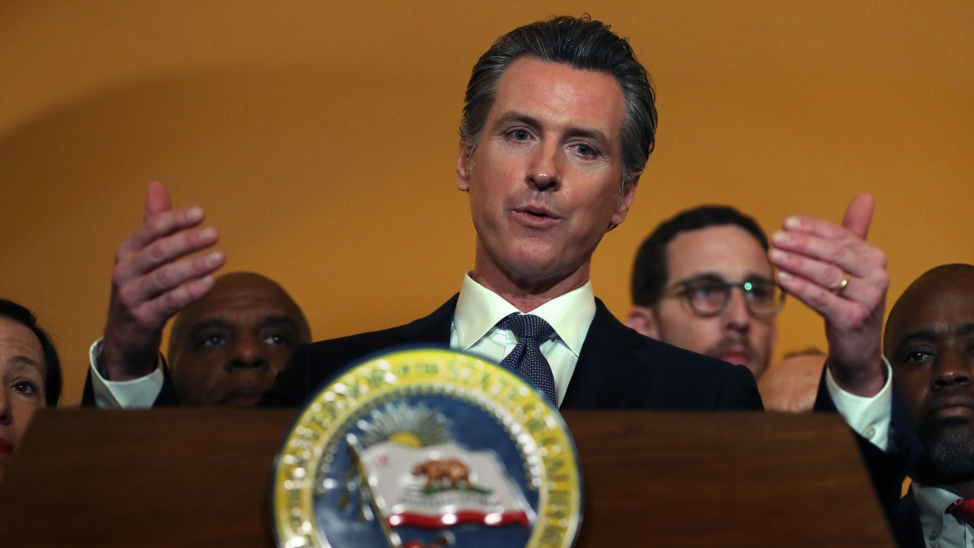 California Gov. Gavin Newsom (D) marked his 100th day in office on Wednesday.