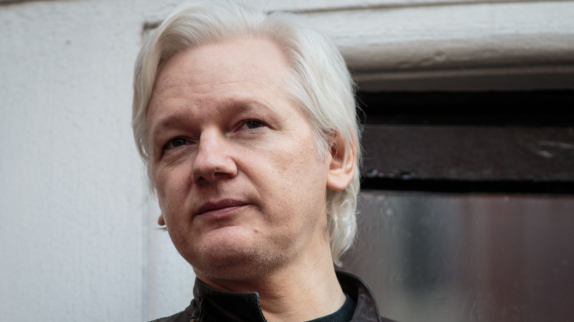 Close-up of Julian Assange