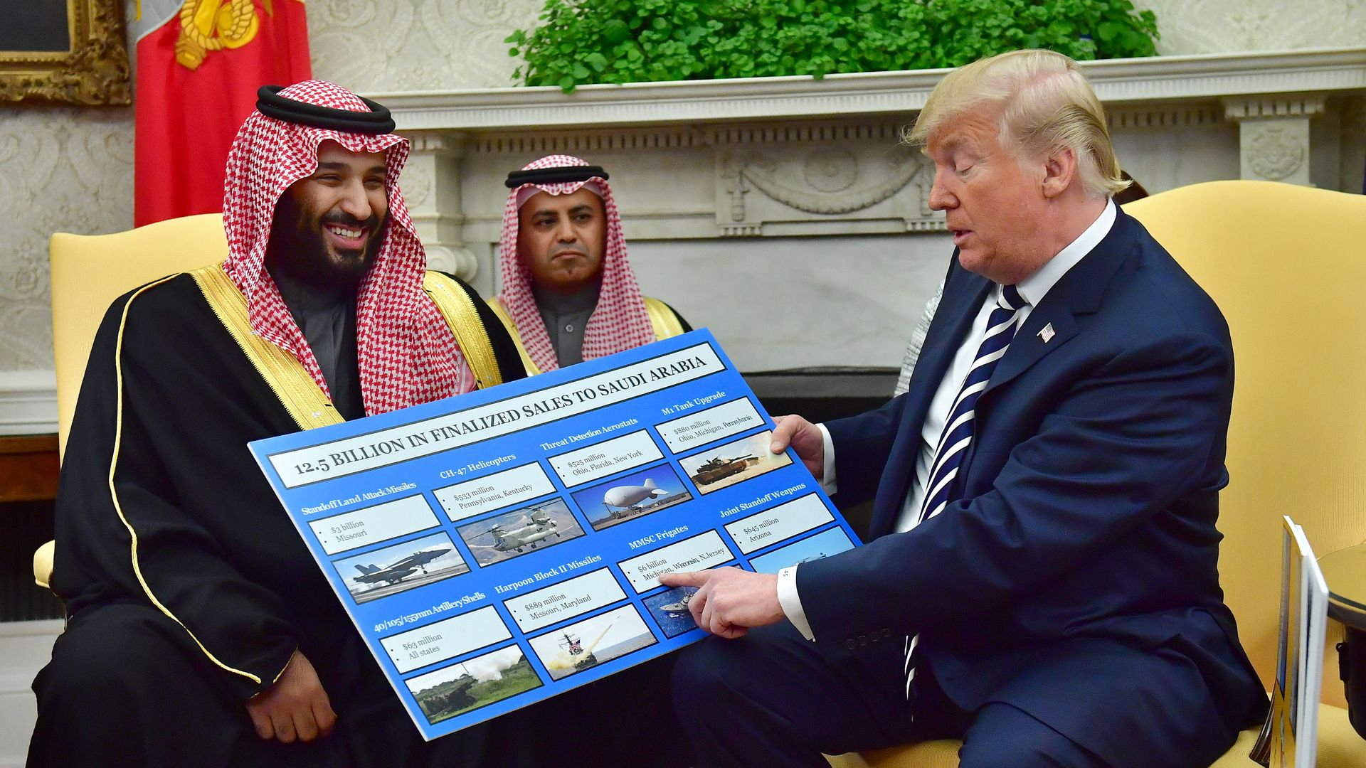Trump with MBS