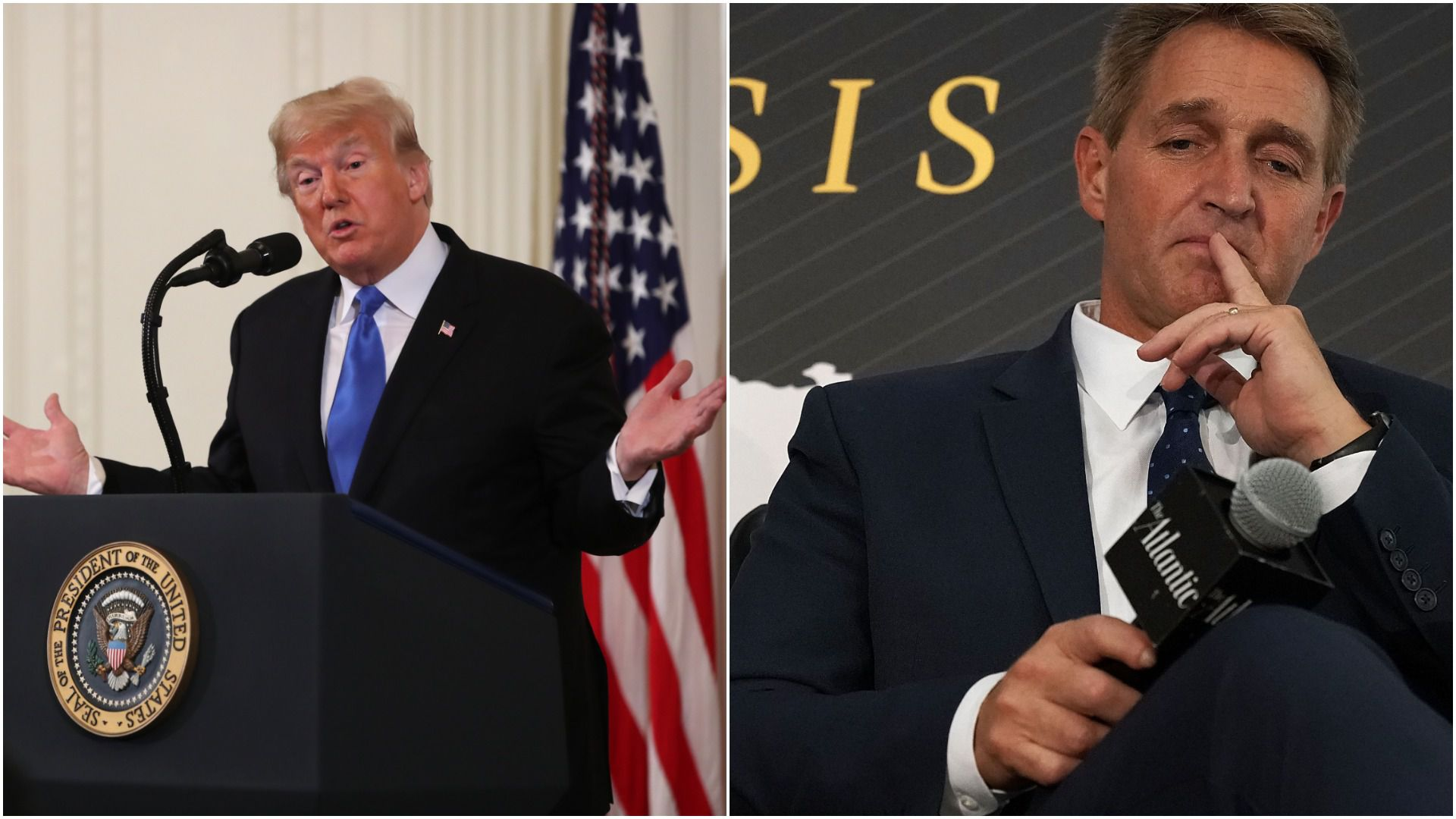 President Trump and Jeff Flake