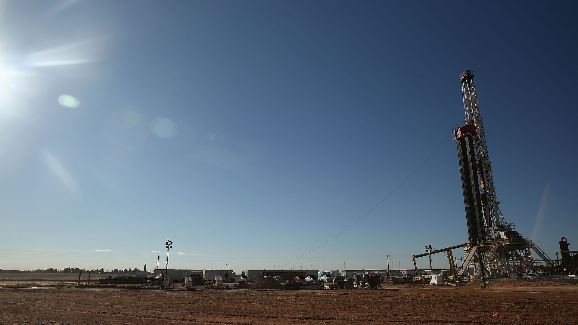 A fracking site in Midland, Texas.