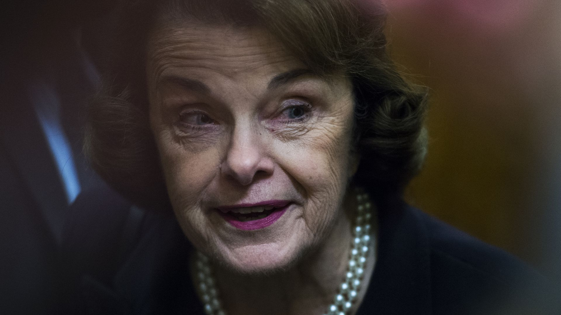 This is a photo of Dianne Feinstein, who was rebuked yesterday by her party's liberal leaders
