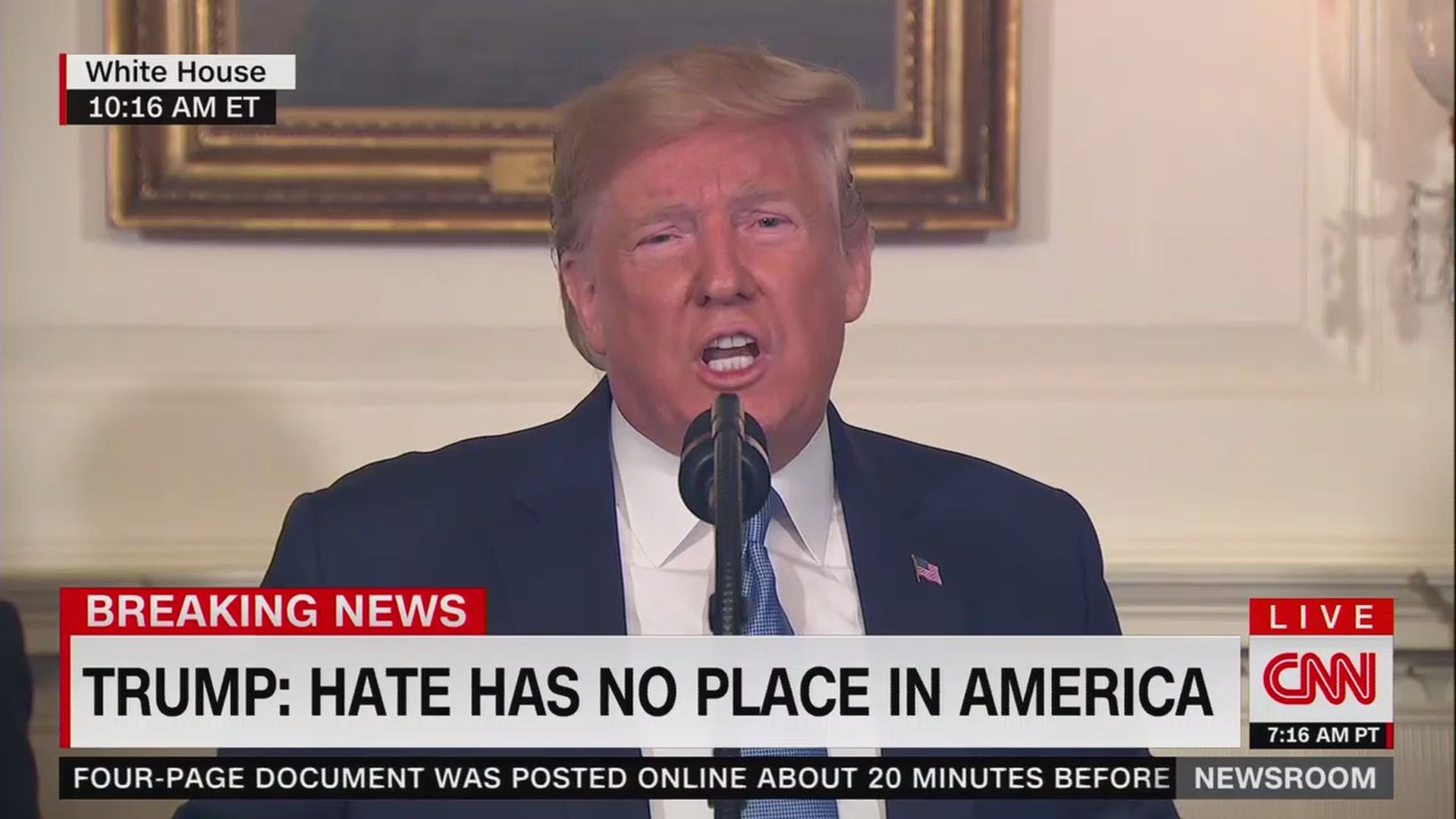 Hate has no place in America