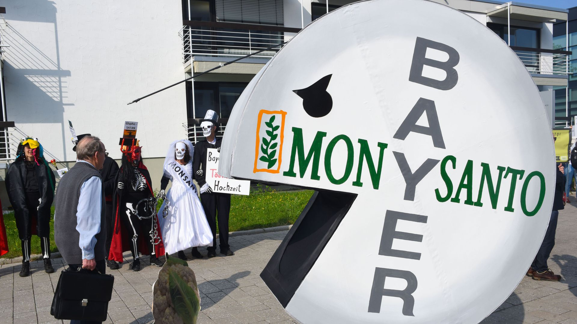 Protest against the Bayer-Monsanto merger.
