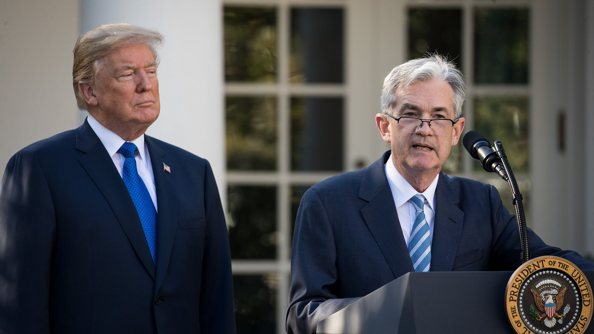 Trump looking at Jerome Powell