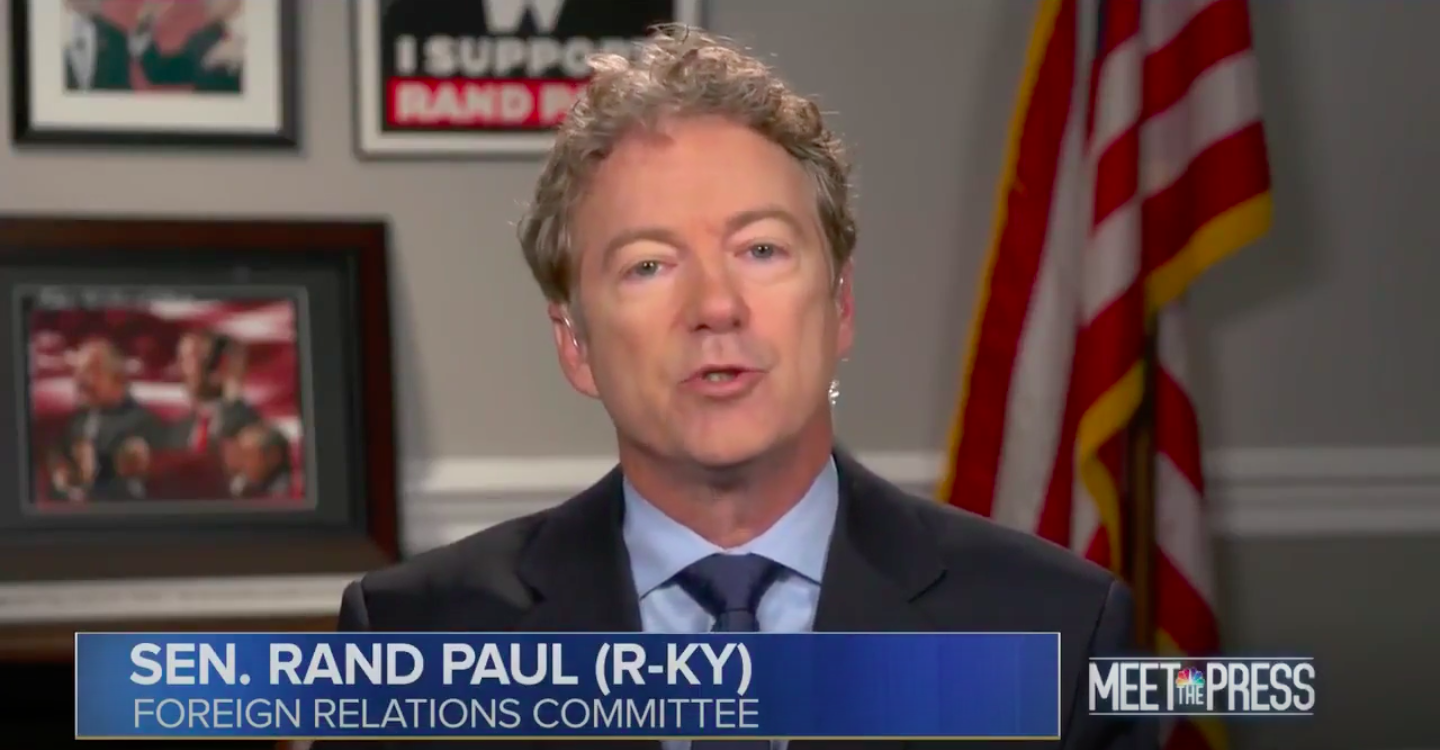"""Rand Paul: Trump has """"every right"""" to use quid pro quo with Ukraine - Axios"""