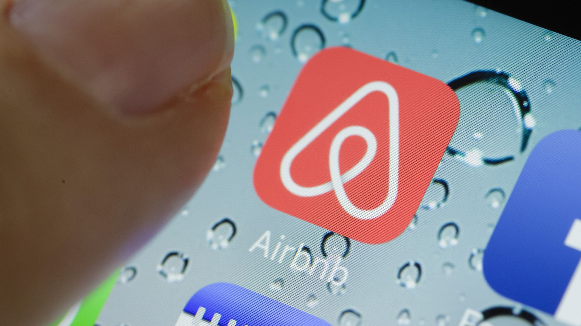 Photo of Airbnb mobile app icon.