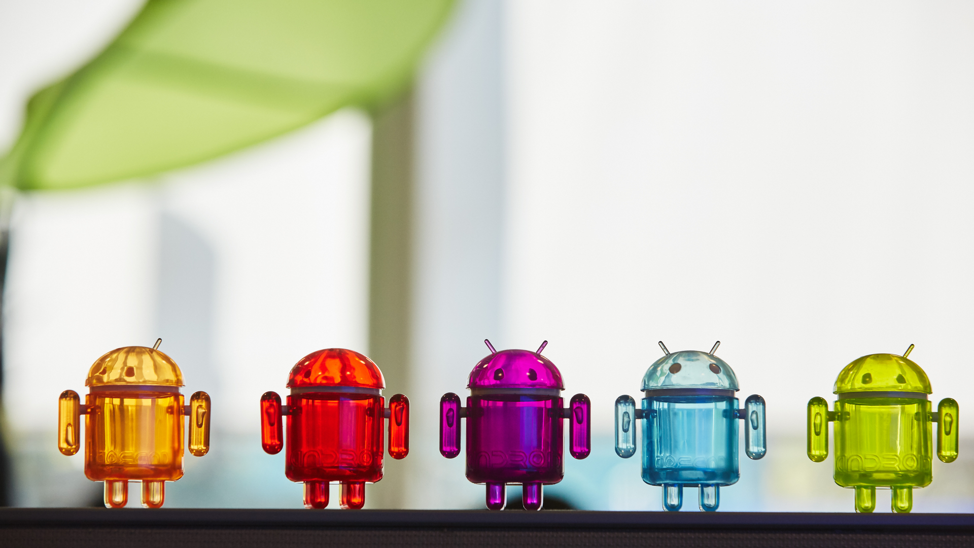 A collection of colorful Android toys