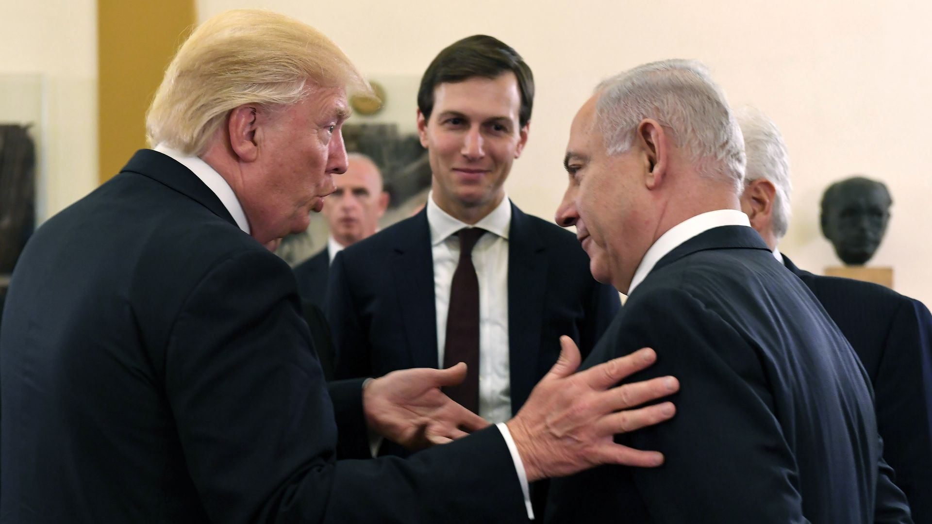 Image result for picture of trump, pompeo, bolton, kushner, netanyahu